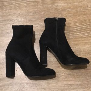 Steve Madden High Ankle Suede Booties